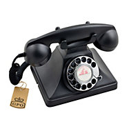 GPO Classic Black Corded Rotary telephone