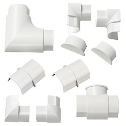 D-Line ABS Plastic White Trunking Accessories (W)40mm Pieces