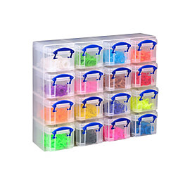 Really Useful Multicolour 2.24L Plastic Organiser