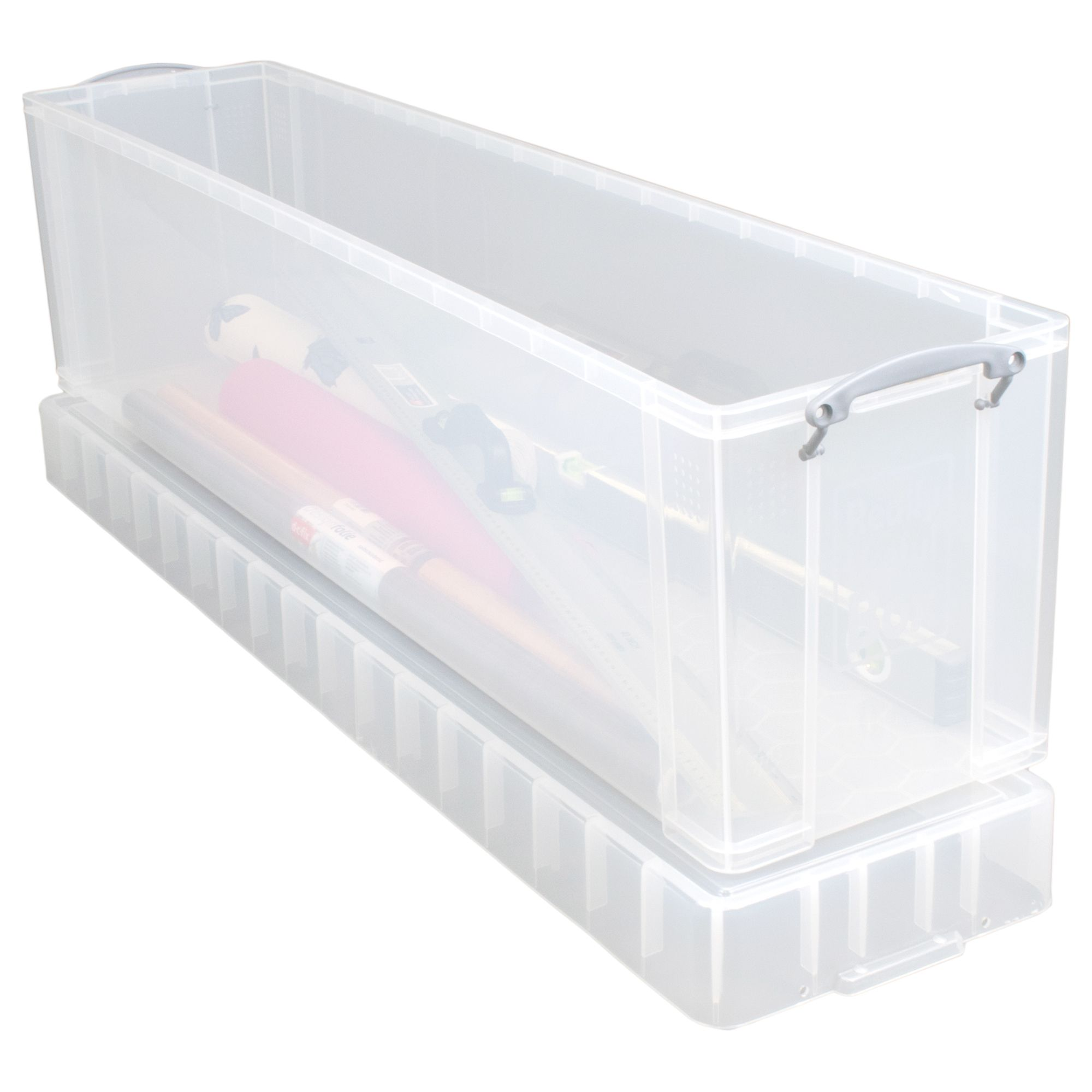 Really Useful Clear 77l Plastic Christmas Tree Storage Box