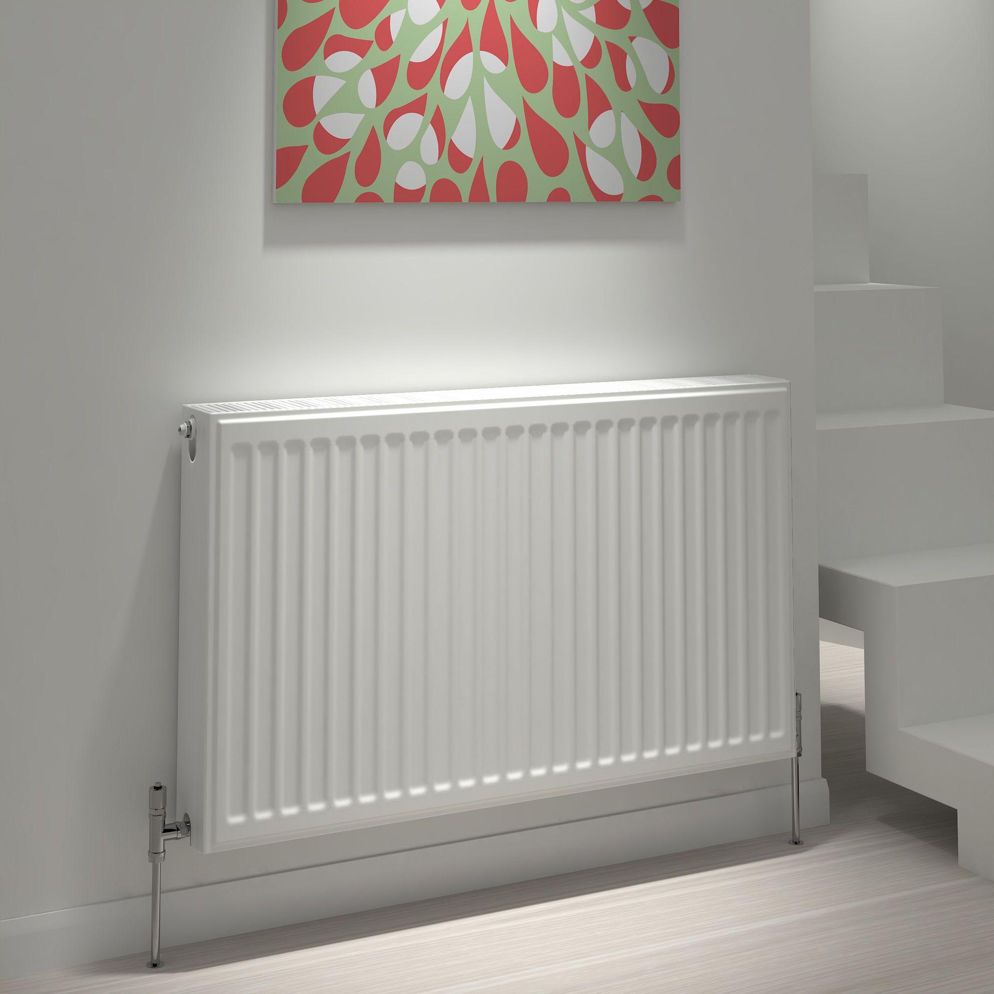 Kudox Type 22 double Panel radiator White, (H)600mm