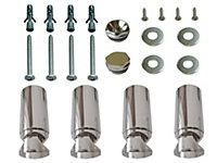 Kudox Chrome effect Spare bracket kit (H)80mm (W)200mm