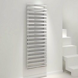 Kudox Vectis Silver Towel warmer (H)1500mm (W)500mm