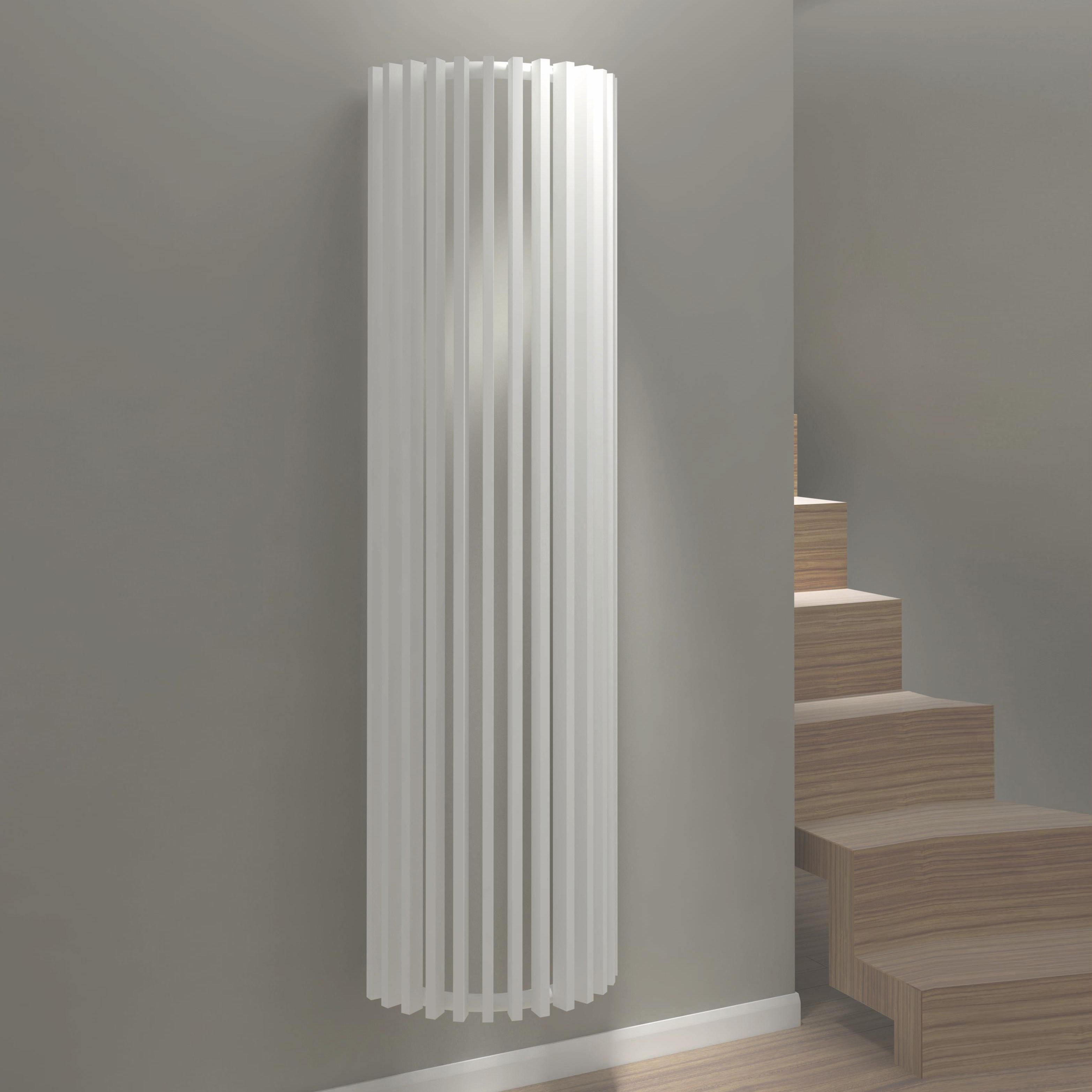 Kudox Tallos Vertical Radiator White (H)1800 mm (W)400