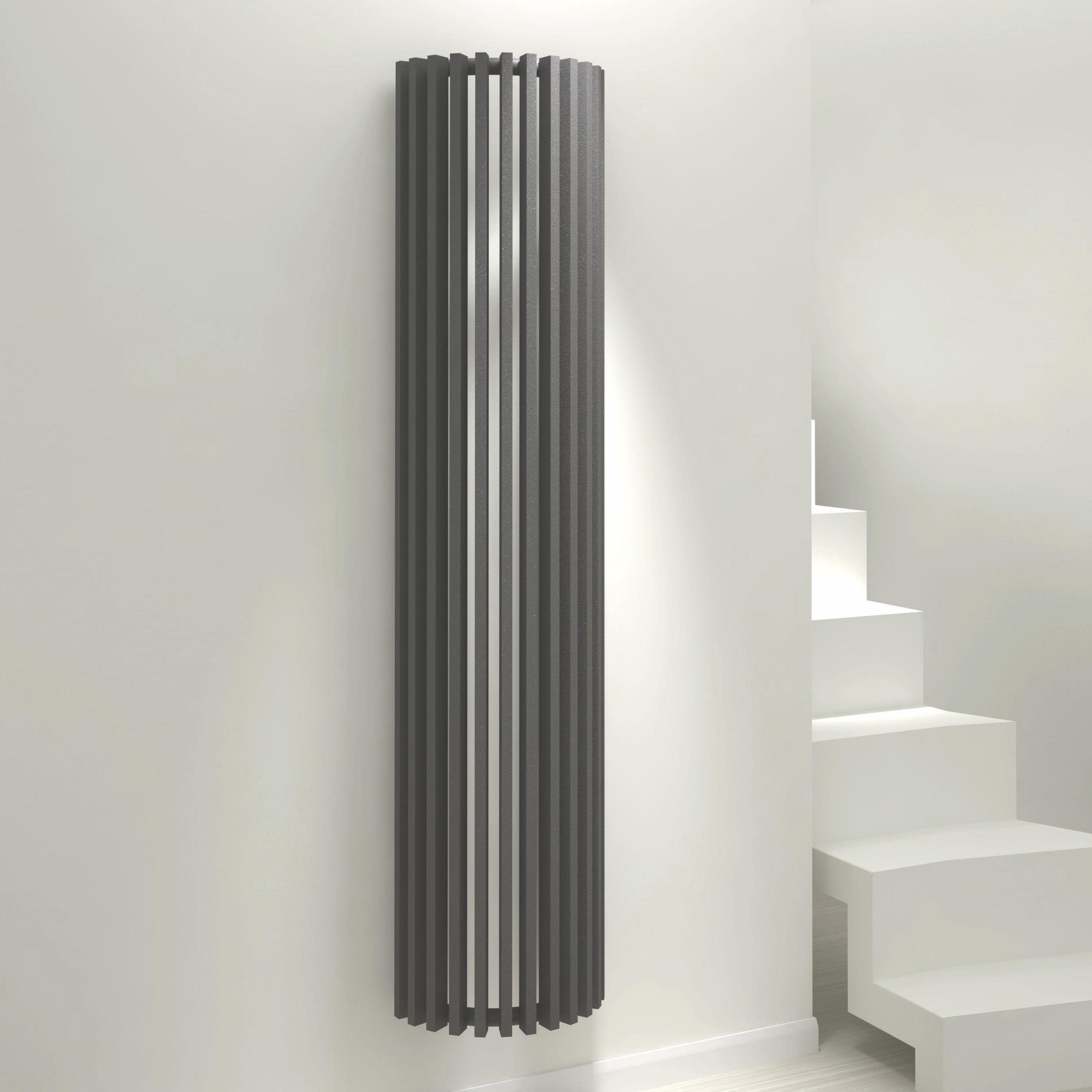 Kudox Tallos Vertical Radiator Anthracite (H)1800 mm (W)400