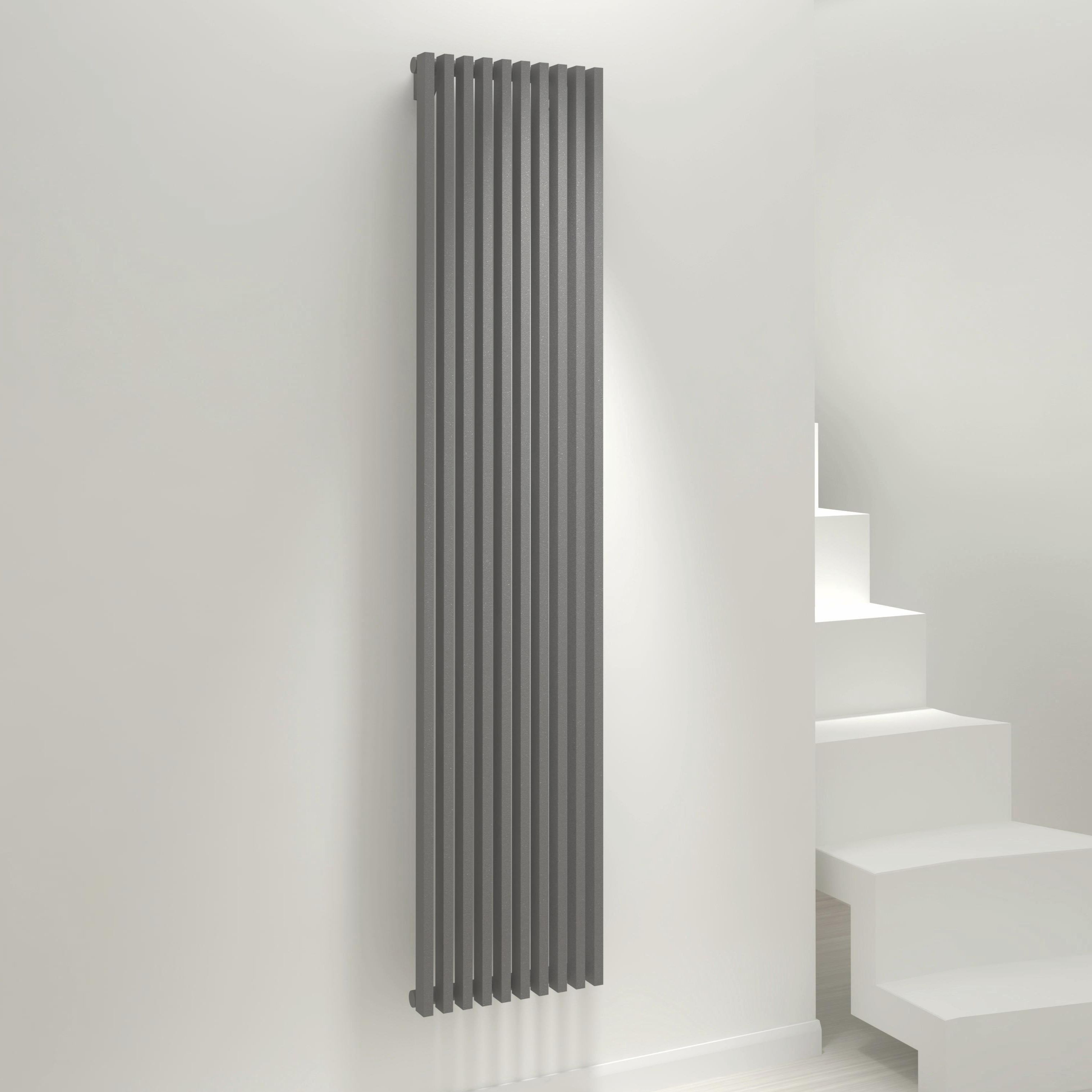 Kudox Xylo Vertical Radiator Anthracite (H)1800 mm (W)380