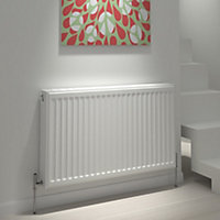 Kudox Type 22 double Panel radiator White, (H)700mm (W)600mm