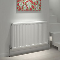Kudox Type 21 double plus Panel radiator White, (H)400mm (W)1200mm