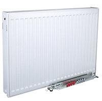 Kudox Type 22 double Panel radiator White, (H)400mm (W)600mm