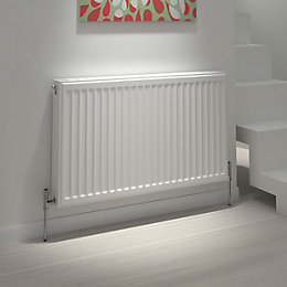 Kudox Type 11 single Convector radiator Whte, (H)400mm