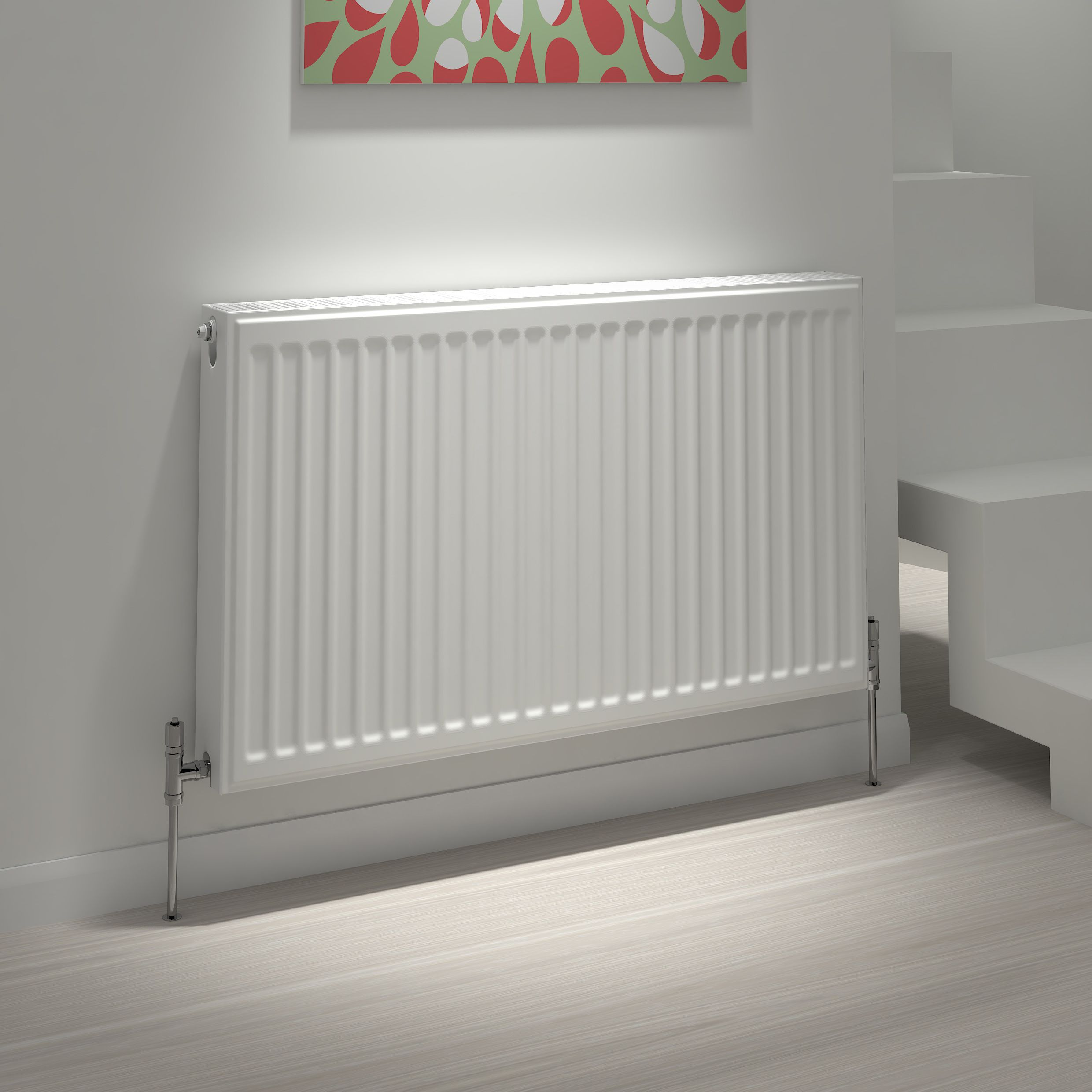 Kudox Type 11 single Convector radiator White, (H)400mm