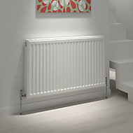Kudox Premium single convector radiator White, (H)700mm (W)900mm