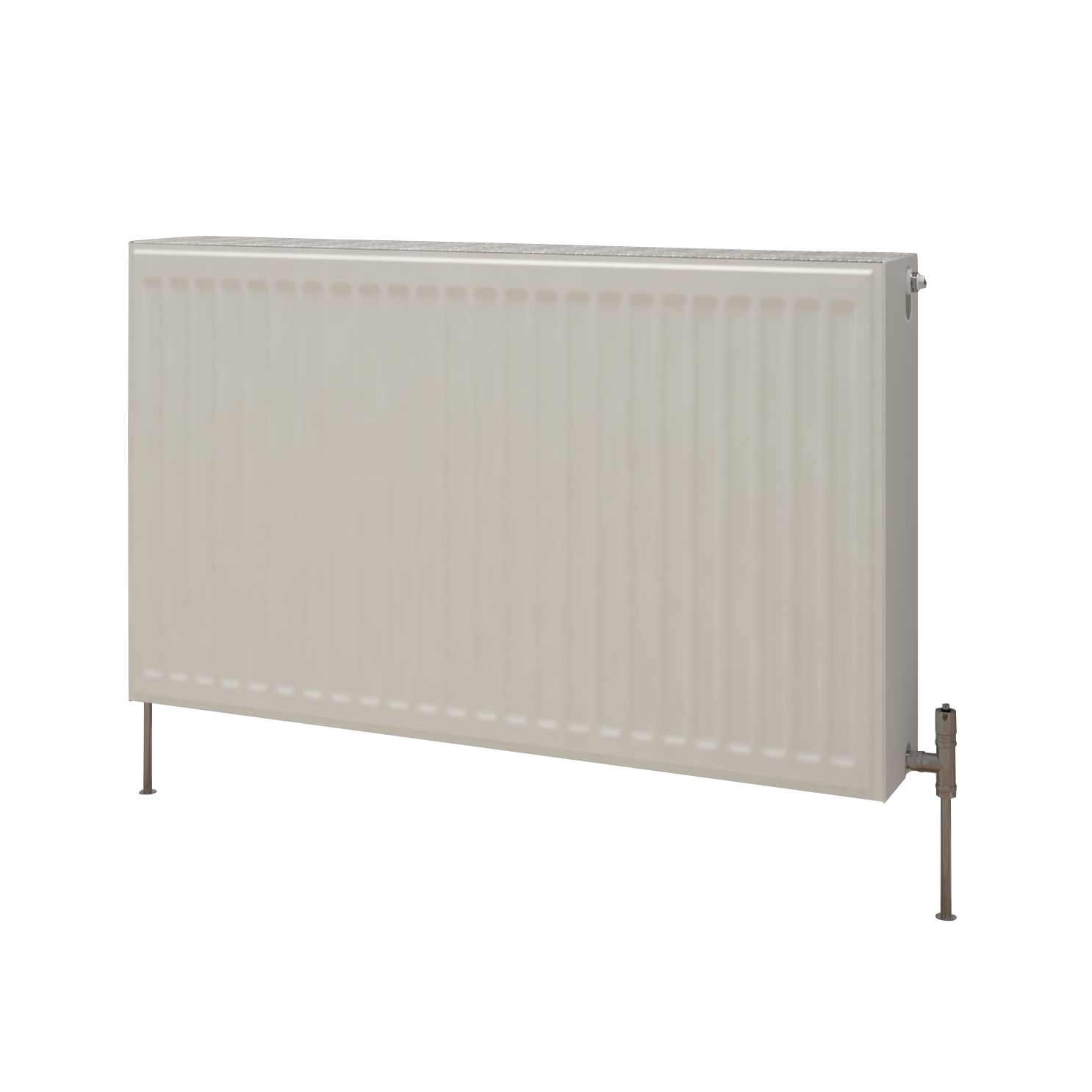 Kudox Premium double radiator Gloss (H)700 mm (W)700