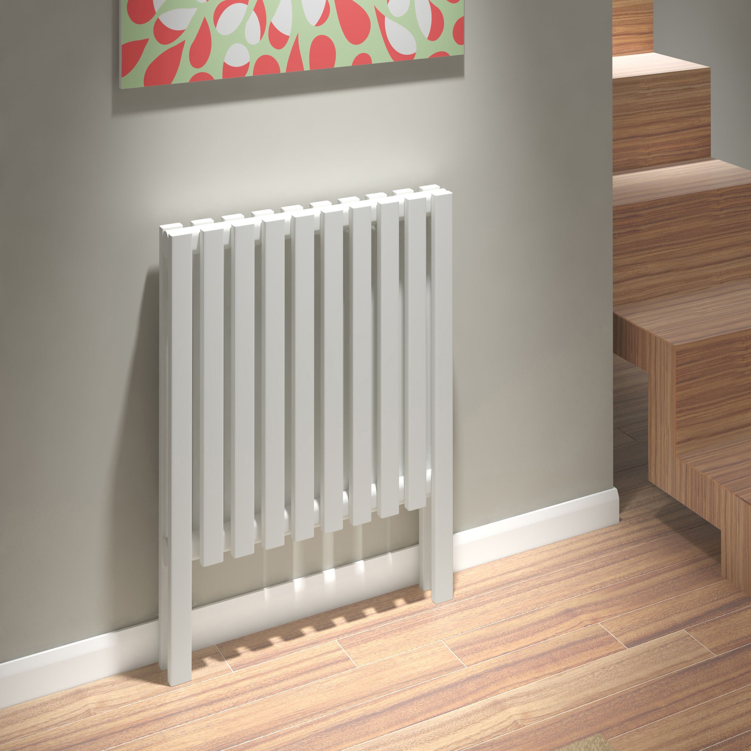 Kudox Axim Vertical Radiator White (H)800 mm (W)580