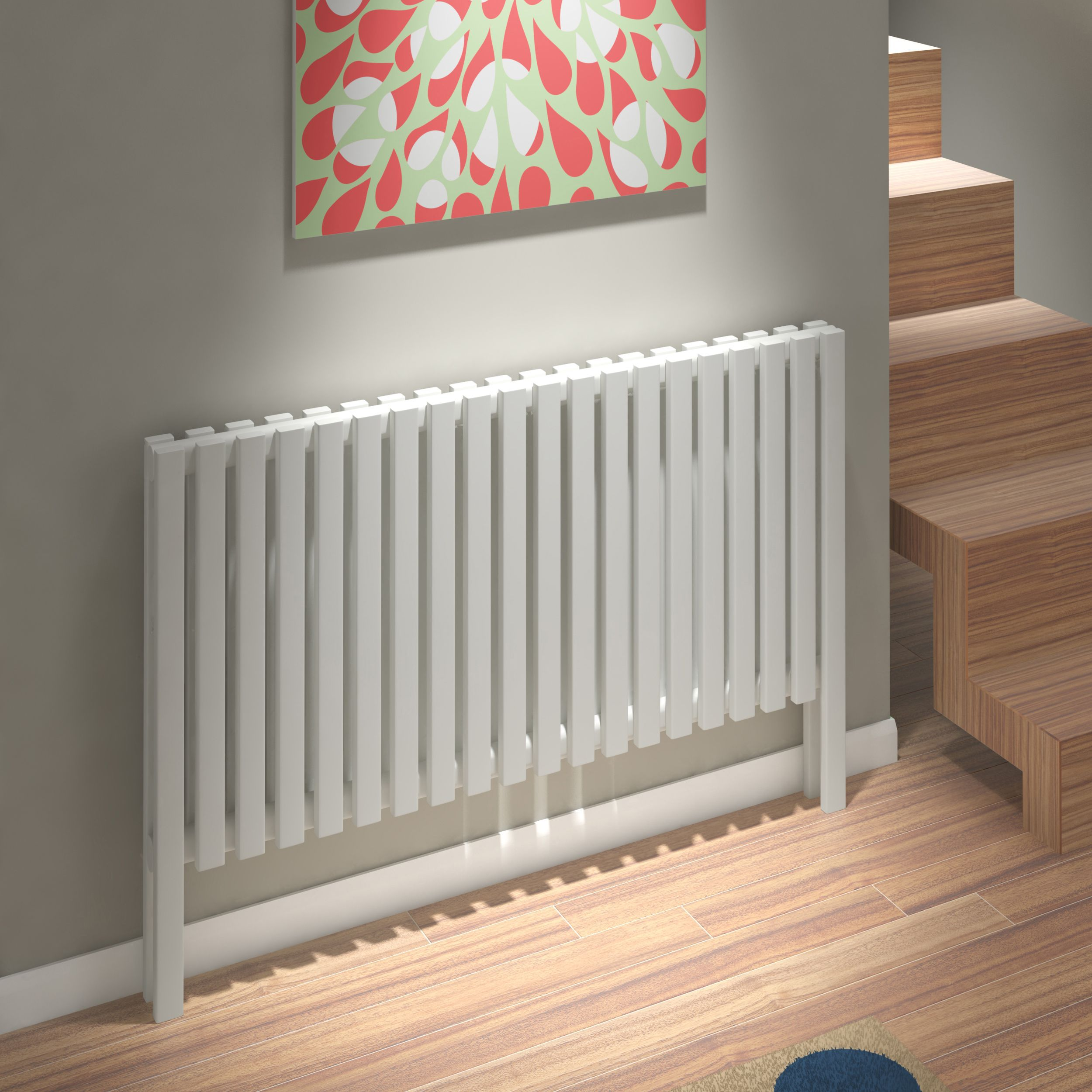 Kudox Axim Horizontal Radiator White (H)800 mm (W)1180
