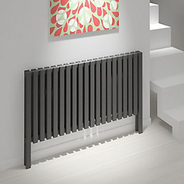 Kudox Axim Horizontal Radiator Anthracite (H)800 mm (W)1180