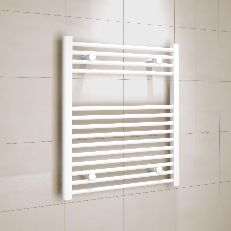 Kudox White Towel warmer (H)700mm (W)600mm
