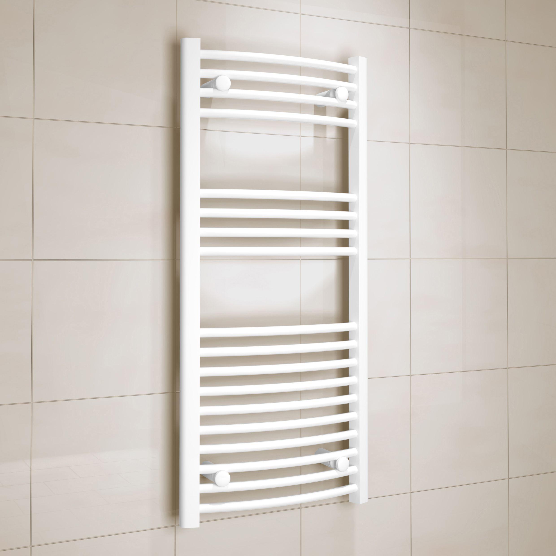 Kudox White Towel Warmer (H)1000mm (W)450mm