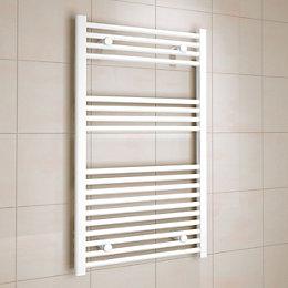 Kudox White Towel Warmer (H)1000mm (W)600mm