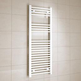 Kudox White Towel Warmer (H)1200mm (W)450mm