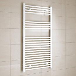 Kudox White Towel Warmer (H)1200mm (W)600mm