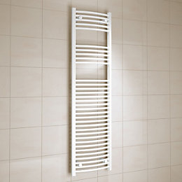Kudox White Towel Warmer (H)1600mm (W)450mm