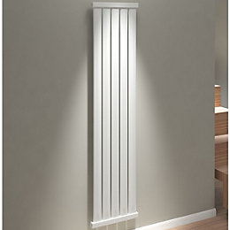 Kudox Elmas Vertical Radiator Satin White Matt (H)1800
