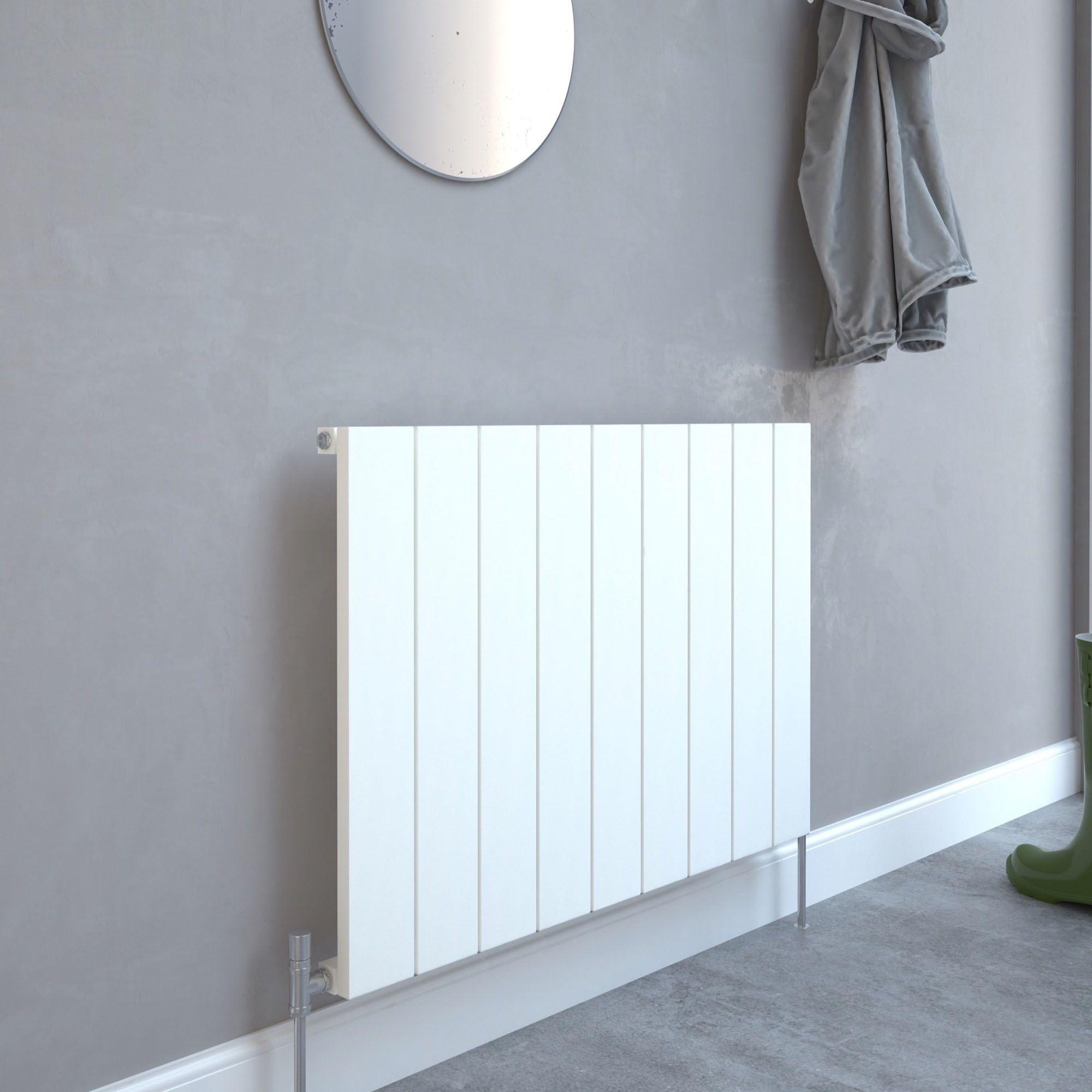 Kudox AluLite Flat Designer radiator White, (H)600mm (W)850mm