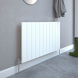 Kudox AluLite Flat Designer radiator White, (H)600mm (W)1040mm