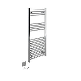 Kudox Lst Electric Chrome Effect Towel Rail (H)1200mm
