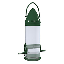 Peckish Plastic 0.6L Click top seed feeder (H)340mm