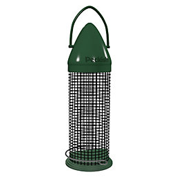 Peckish Plastic 0.6L Click top peanut feeder (H)340mm