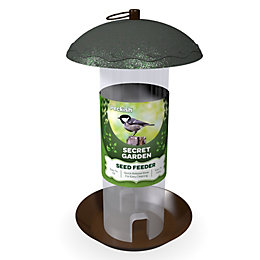 Peckish Steel 0.7L Seed feeder (H)340mm (W)700mm (L)260mm