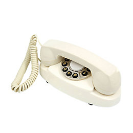 Gpo Retro Cream Corded Rotary Telephone