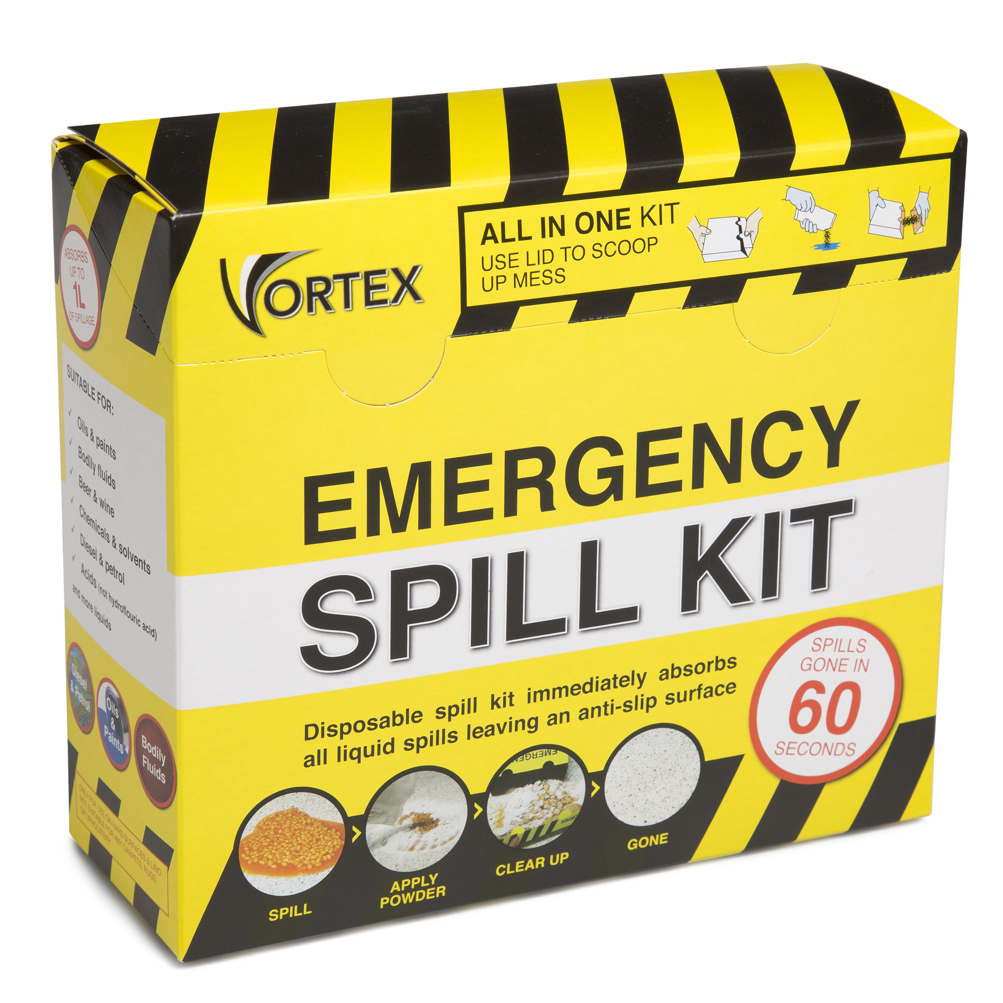Vortex Emergency Chemical Spill Kit Departments Diy At B Amp Q