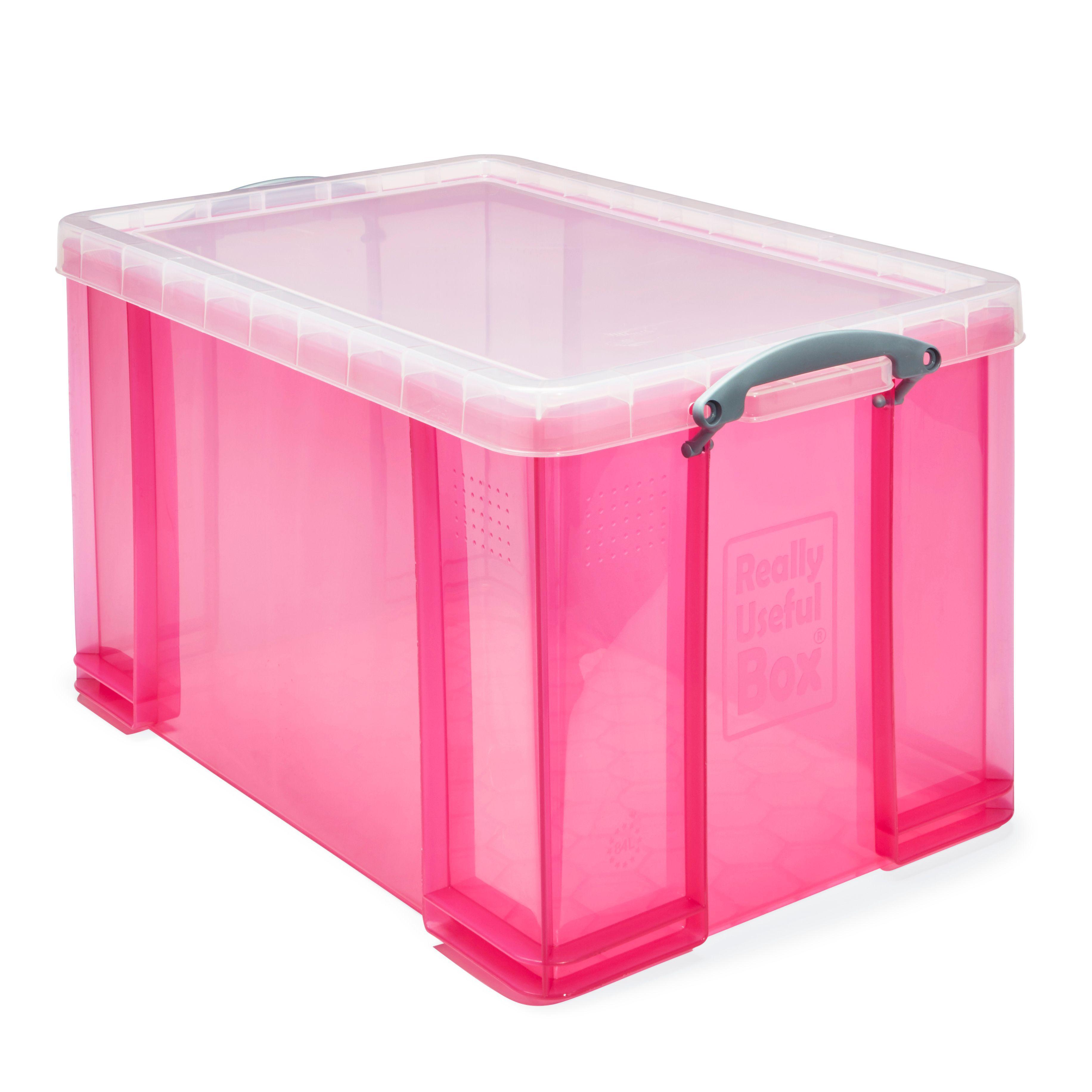 sc 1 st  Bu0026Q & Really Useful Pink 84L Plastic Storage Box | Departments | DIY at Bu0026Q