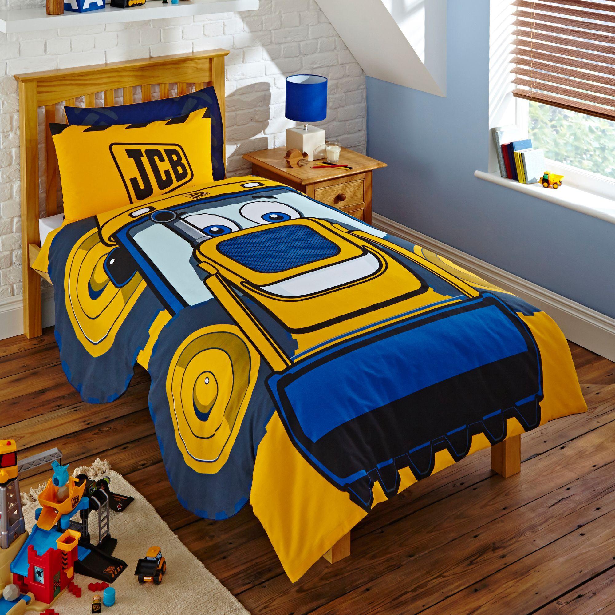 Jcb joey yellow single duvet set departments diy at b q for B q bedroom furniture
