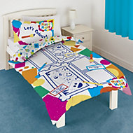 Mister Maker Colour & play Multicolour Single Duvet set