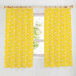 Minion Yellow Pencil Pleat Children's Curtains (W)167 cm