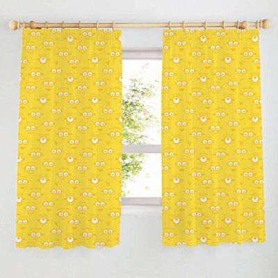 Minion Yellow Unlined Pencil Pleat Curtains W 167cm L 137cm Pair Departments Diy At B Q