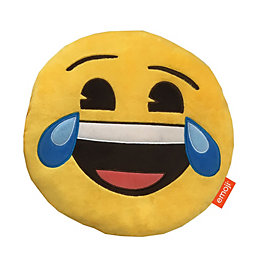 Emoji Happy tears Yellow Cushion