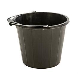 Proplas Black Plastic 14000 ml Builders bucket