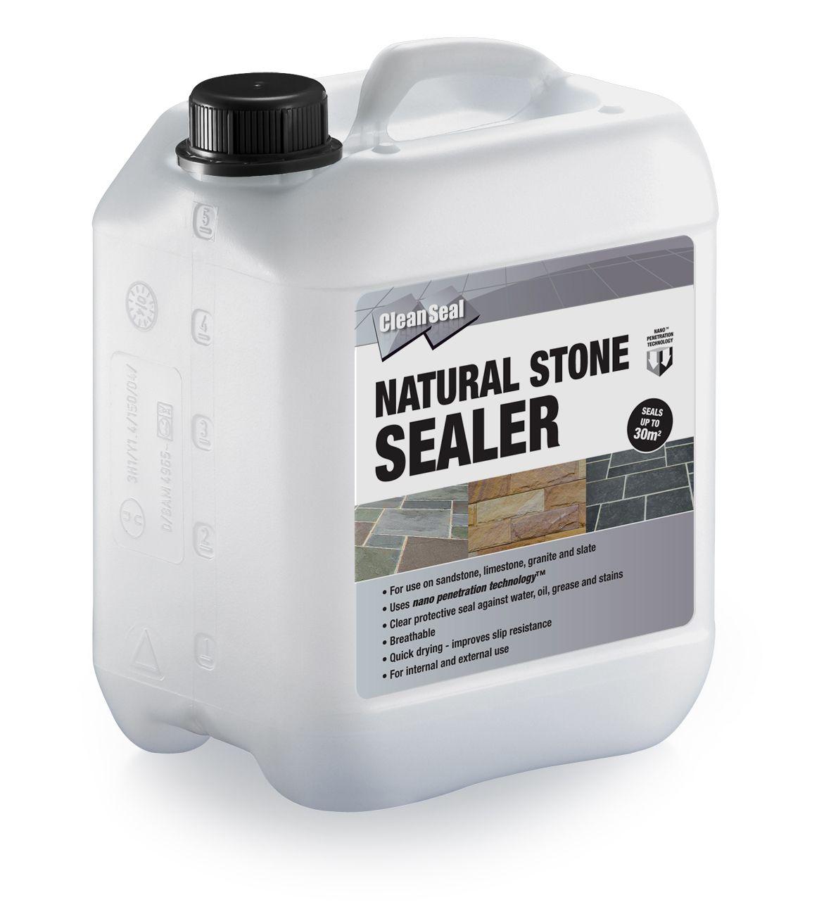 Clean Seal Natural Stone Clear Paving Sealer 5000 ml | Departments | DIY at  B&Q