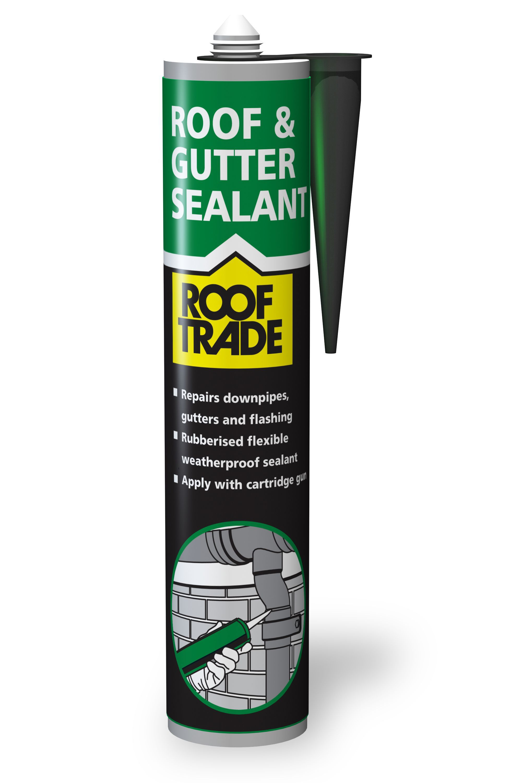 Rooftrade Black Roof Amp Gutter Sealant 0 31l Departments