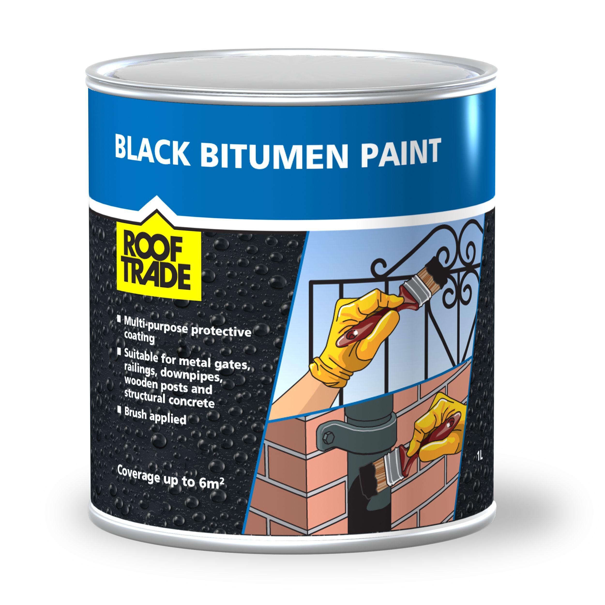 Rooftrade Black Bitumen Paint 1l Departments Diy At B Amp Q