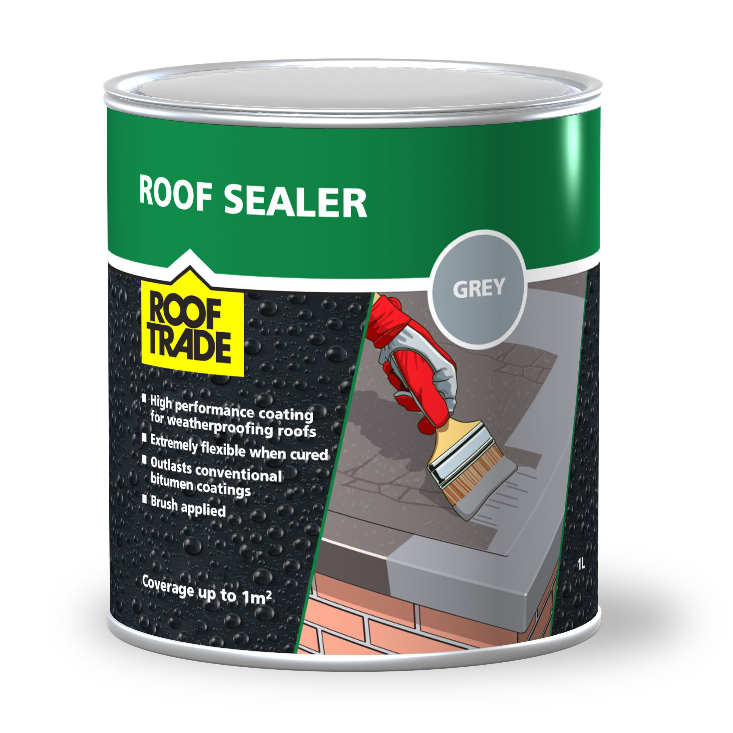 Gray Roof Paint: Rooftrade Grey Roof Sealer 1L