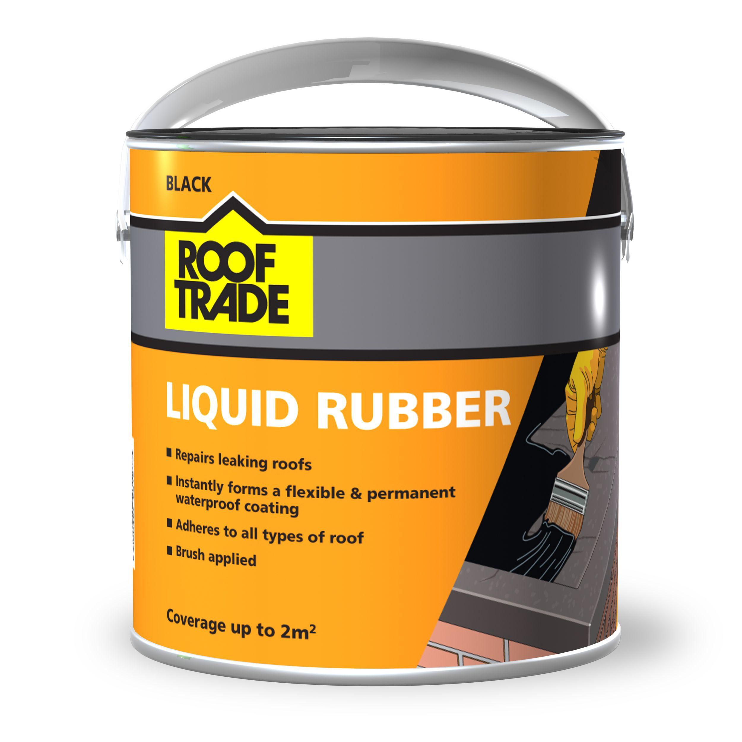 Rooftrade Black Liquid Rubber Roof Sealant 2l