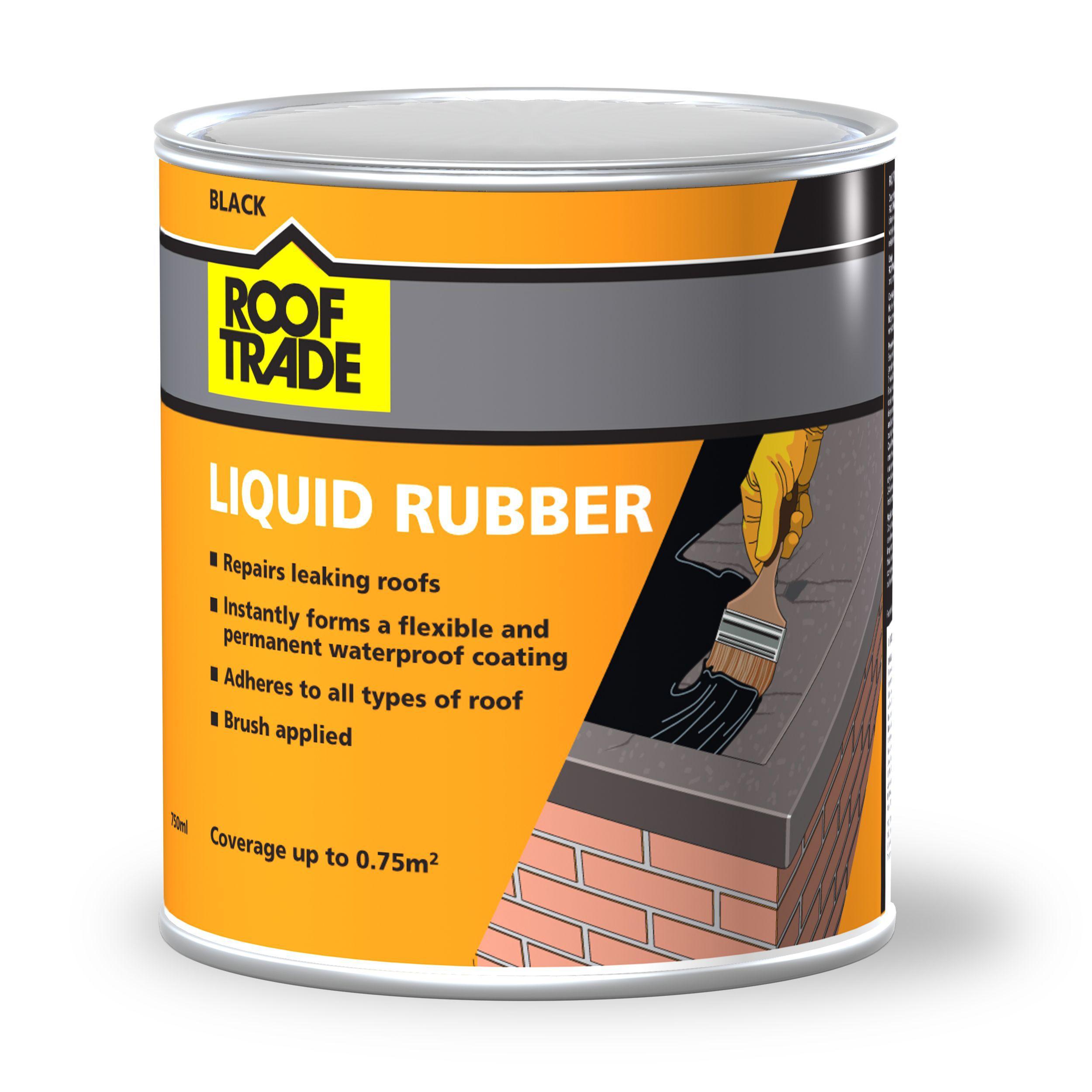 Rooftrade Black Liquid Rubber Roof Sealant 0 75l Departments Diy At B Amp Q