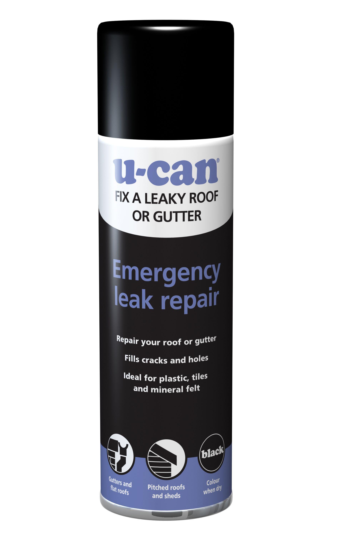 U-Can Leak repair aerosol 500ml | Departments | DIY at B&Q
