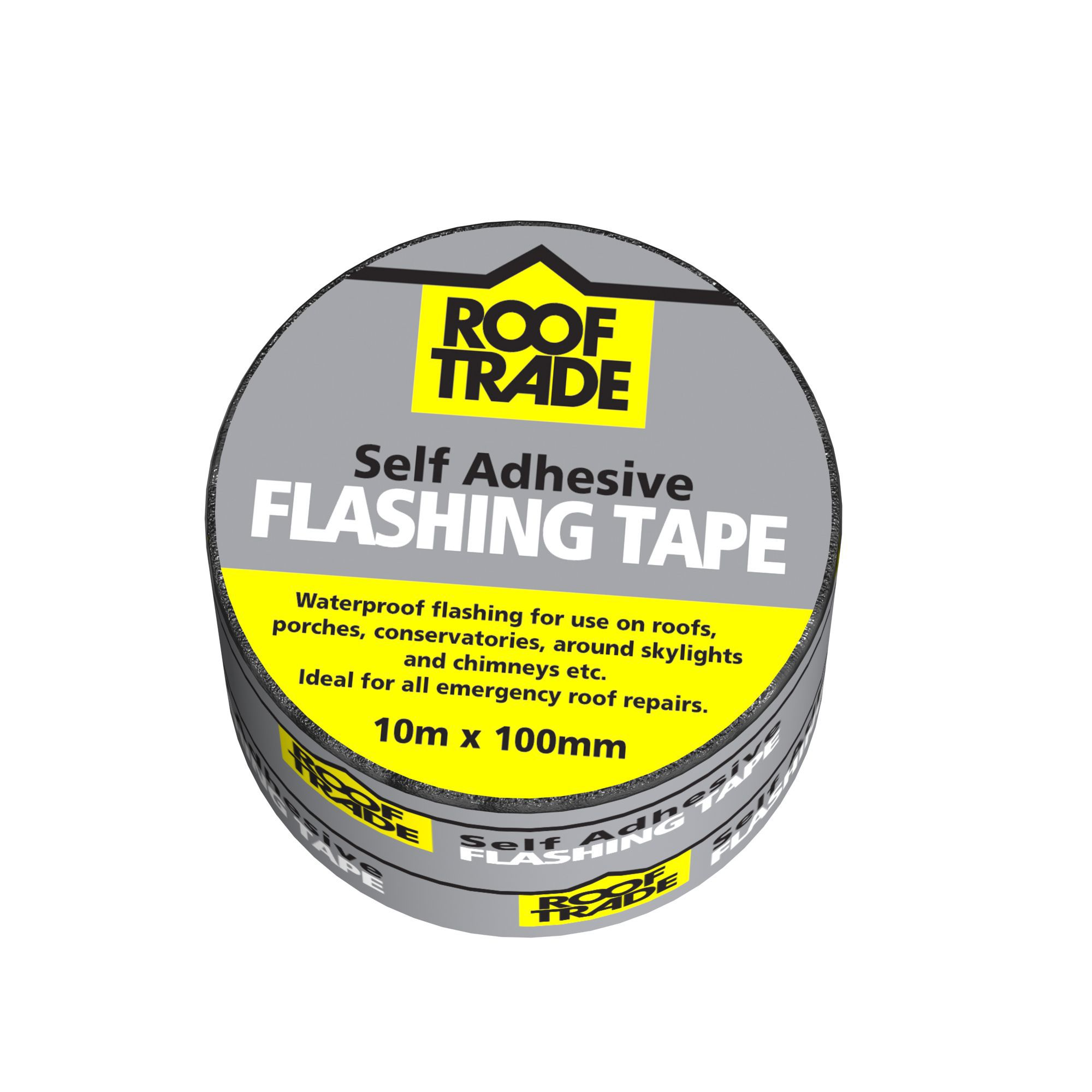 Rooftrade Grey Flashing Tape L 10m W 100mm Departments